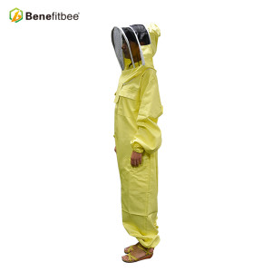 Beekeeping Tools Manul Customized Yellow PVC Protective Clothes Bee Suit
