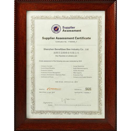 Suppiler Assessment Certificate