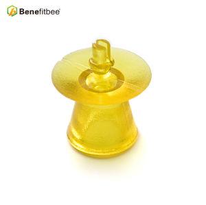 Whoselas Outils d'apiculture Extra-large Jaune plastique Plastique Queen Mounting Base Mount Cell Cups
