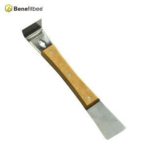 Metal Color Right Wooden Clean Beewax 7.87 pulgadas Stainless Steel Claw Colmena Herramientas para herramientas de apicultura