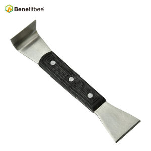 Wholesales Double Head Edge Stainless Steel 7.87 inch Black Plastic Handle Hive Tools For Beekeeping Tools