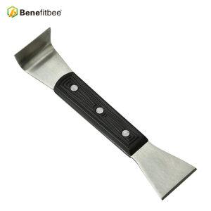 Ventas al por mayor de acero inoxidable borde doble cabeza 7.87 pulgadas manija de plástico negro colmena herramientas para herramientas de apicultura