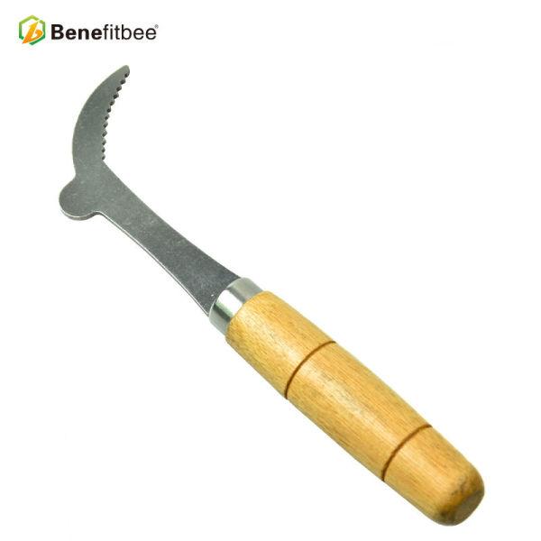 新款养蜂工具弯头起刮刀木柄巢框起子批发工厂直销品质款