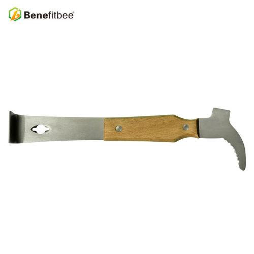 养蜂工具蜂具木柄不锈钢弯头起刮刀蜂箱刮铲清洁铲产地货源批发