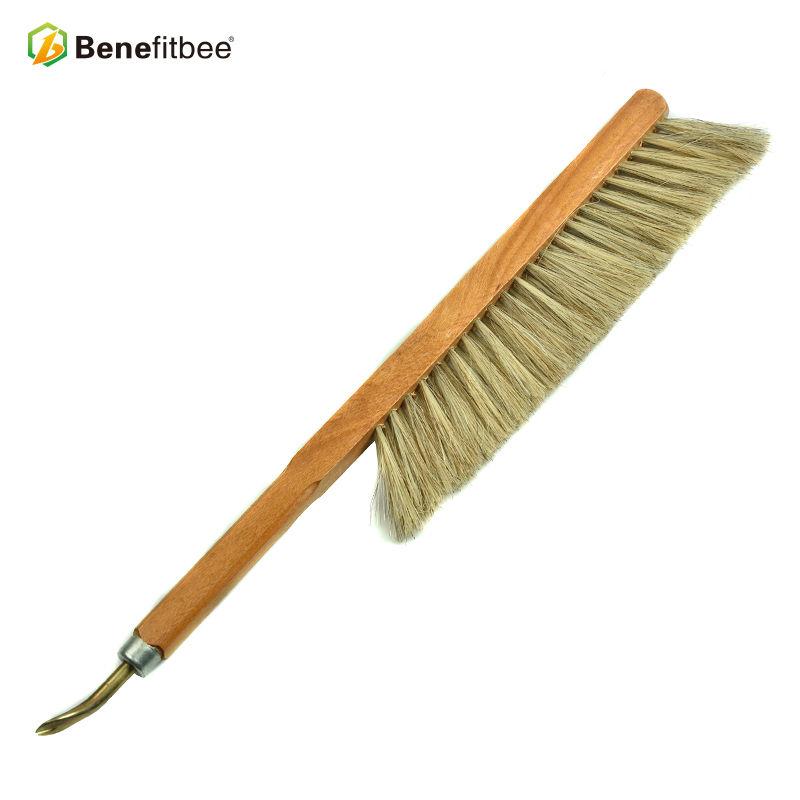 1x 40cm Bienenzucht Bee Brush Hive Tool Pinsel Haar Holzgriff