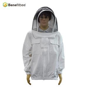 防蜂服蜂衣半身防蜂帽涤平布白色养蜂专用透气厂家直销