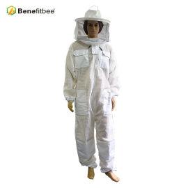 厂家直销养蜂防护工具FY13B-透气连体防蜂服(圆帽)新款