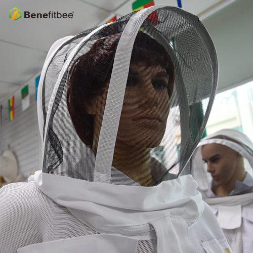 厂家直销养蜂防护用具-透气半身防蜂服(三明治网折叠帽)批发定制