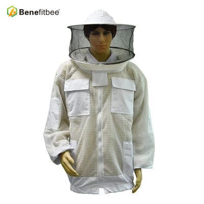 厂家直销养蜂防护用具FY09A透气半身防蜂服(圆帽)批发定制