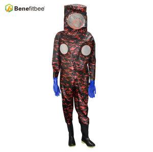 厂家直销养蜂防护用具-迷彩皮马蜂服(加厚)批发定制