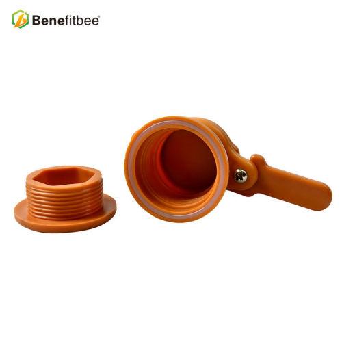 厂家直销养蜂工具蜜蜂欧式出蜜口(橙色)蜂具配件批发