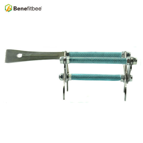 厂家直销养蜂工具蜜蜂三管带铲铝制提脾夹(短口)蜂具配件批发