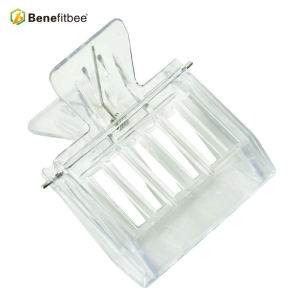 Whlosales Clip-Type Transparent White Plastic Queen Cage For Queen Rearing