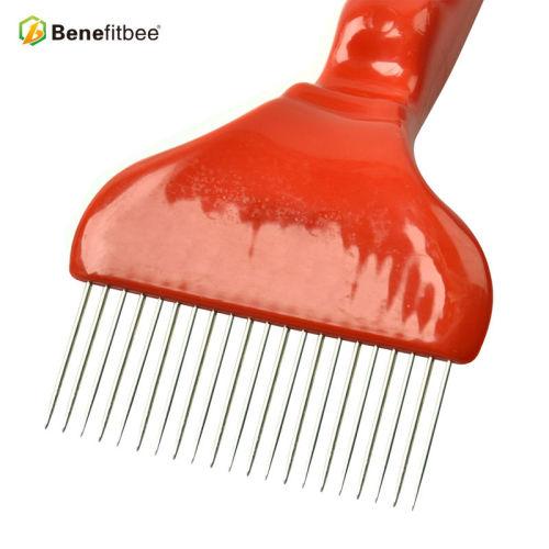 厂家直销养蜂工具21针粗把塑料割蜜叉 蜂具配件批发