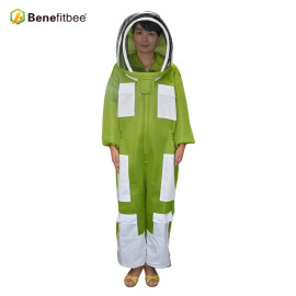 Breathable Front Open Type Zipper Beekeeping Equitment Cloth Protective Suit