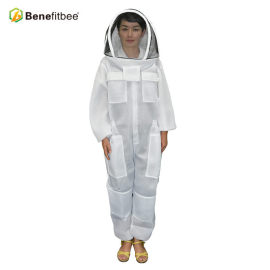 White Front Open Type Zipper Beekeeping Equitment Screen Cloth Protective Suit