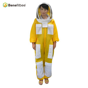 Beekeeping Equitment Breathable Front Open Type Zipper Cloth Protective Suit