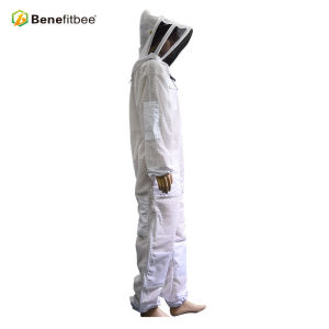 Cheap White Beekeeping Clothes Breathable Front Open Zipper Cloth Protective Suit