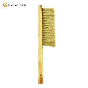 High Quality Dual Rows Bristles Wooden Handle Bee Brushes For Beekeeping Tools
