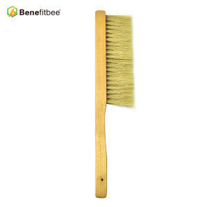 Application Bee Frame Thrid-Rows Bristles Wooden Handle Bee Brushes For Beekeeping Tools