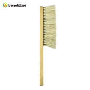 Wholesales One Row Wooden Handle Horsehair Bee Brushes For Beekeeping Tools