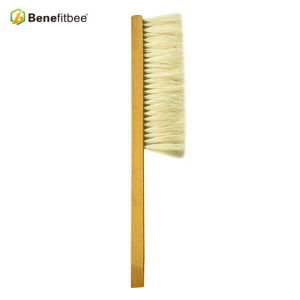 One Row Horsehair Wooden Handle Bee Brushes For Beekeeping Tools
