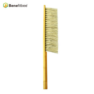 Yellow Dual Rows Wooden Handle Bee Brushes Use For Bee Frame
