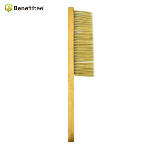 Cheap One Rows Wooden Handle Yellow Plastic Hair Bee Brushes For Beekeeping Tools