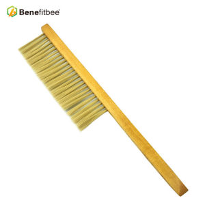 High Quality One Rows Wooden Handle Plastic Hair Bee Brushes For Beekeeping Supplies