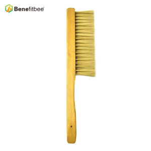 Dual Row Wooden Handle Plastic Hair Bee Brushes For Beekeeping Manufacturer