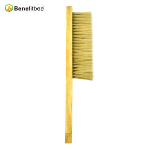 Promotional Third Rows Wooden Handle Plastic Hair Bee Brushes For Beekeeping Tools