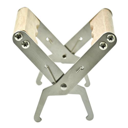 厂家直销养蜂工具出口不锈钢木柄提脾夹 蜂具巢框批发
