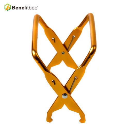 厂家直销养蜂工具出口铝制提脾夹(短口)巢框夹蜂具批发