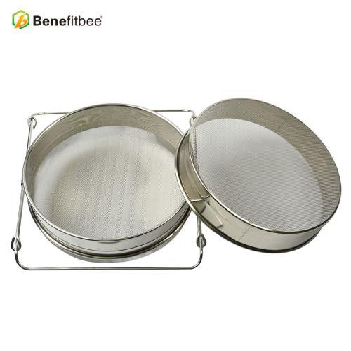 养蜂工具出口品质全不锈钢蜂蜜双层过滤器 精细过滤网过滤筛蜂具