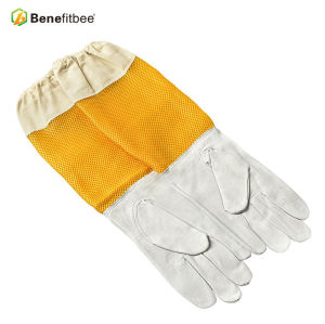 Nouveaux outils d'apiculture de conception Gants protecteurs de tissu d'écran de longueur jaune