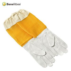 New Design Beekeeping Tools Yellow Length Screen Cloth Protective Gloves