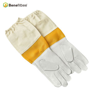 Gants de protection en tissu d'écran jaune pour l'apiculture de style nouveau style court