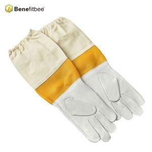 Nuevo Estilo de Tipo Corto Apicultura Guantes de Protección de Tela de Pantalla Amarilla