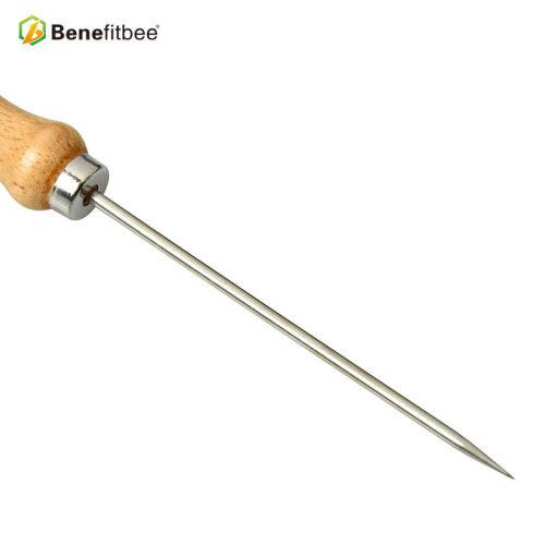 厂家直销养蜂工具不锈钢钢签木柄针 -五金蜂具批发
