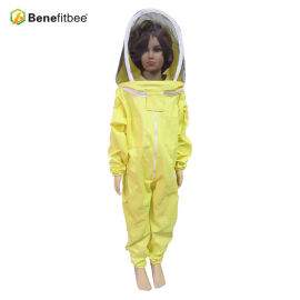 New Style Beekeeping Tools Manul Customized Yellow PVC Protective Clothes Children Style Bee Suit