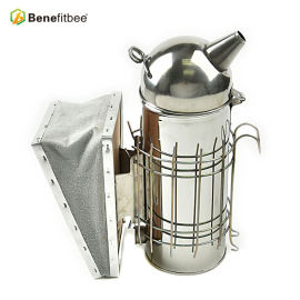 Beekeeping Tools Stainless Steel Manual Bee smoker(Size-L)Increase The Height For Beekeeping Supplies