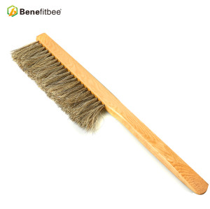 Dual Rows Wooden Handle Plastic Horse hair Bee Brushes For Beekeeping Manufacturer