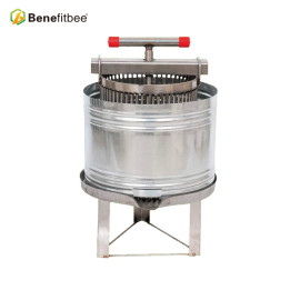 Benefitbee Beekeeping Machine SUS201 Honey Beewax Press With Splash Collar For Wholesale Price With Good Quality
