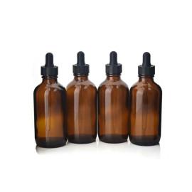 Botella de gotero marrón redondo Boston de 120 ml Botella de aceite esencial marrón