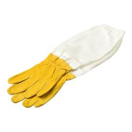 Gants protecteurs blancs de canevas de haute qualité pour des outils d'apiculture