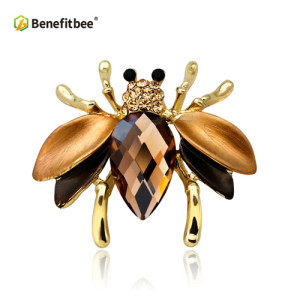 Benefitbee colorful  bee brooch pin crystal bee brooch