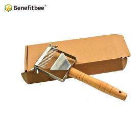 Benefitbee Newest adjustable Stainless Steel honey Uncapping Honey Fork For Beekeeping Honeycomb Honey Scraper