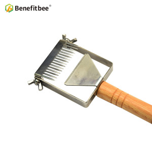 Newest adjustable Stainless Steel honey Uncapping Honey Fork For Beekeeping Honeycomb Honey Scraper