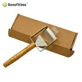 Benefitbee Stainless Steel honey Uncapping Honey Fork For Beekeeping Honey Scraper