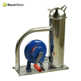Benefitbee New design hand-cranked bee smoker beekeeping stainless steel bee smoker